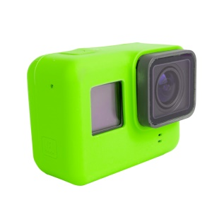 Silicone Soft Housing Cover for GoPro Hero 5 Black Action Camera - Green