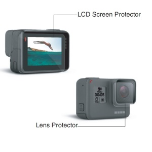 Clear LCD Screen Protector + Lens Guard Film for GoPro Hero5 Black