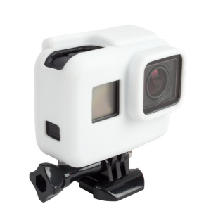 Soft Silicone Protective Housing Cover for GoPro Hero 5 Black AT622 - White