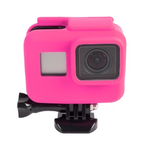 Flexible Silicone Protective Housing Case for GoPro Hero 5 Black AT622 - Rose