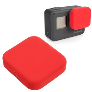 Soft Silicone Camera Lens Protector Cover for GoPro Hero 5 Black - Red