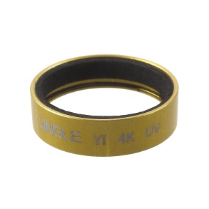 LINGLE UV Filter Lens with Metal Frame for Xiaoyi / Xiaoyi 4K Action Camera (Y2-09) - Gold