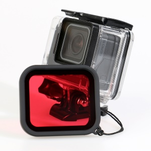 Waterproof Housing Case + Red Filter Lens for GoPro Hero 5