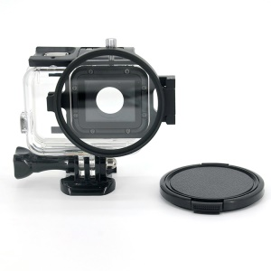 LINGLE 58mm Lente Filtro UV para GoPro Hero 5 Negro Vivienda Impermeable