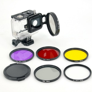 LINGLE 58mm Filter Lens Kit for GoPro Hero 5 Black Waterproof Housing