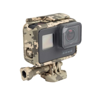 Protective Housing Frame with Thumb Screw for GoPro Hero 5 Black Action Camera - Desert Camouflage
