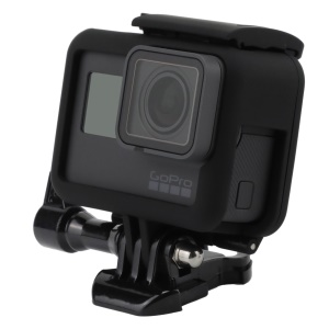 Housing Frame Cover with Base & Thumb Screw for GoPro Hero6 Black / Hero5 Black - Black