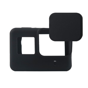 For GoPro Hero5 Black Soft Silicone Protective Housing + Lens Cover - Black