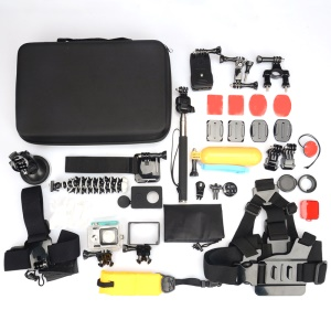 KINGMA 36 in 1 Accessories Kit with Chest Belt, Octopus Tripod Stand for GoPro Hero 4/3+/3/2/1 SJ4000/5000/6000/Xiaomi Yi