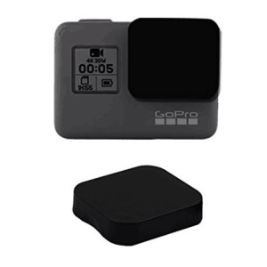 Housing Frame + Tempered-Glass Screen Protector + Lens Cap Cover Set for GoPro Hero 5 Action Camera
