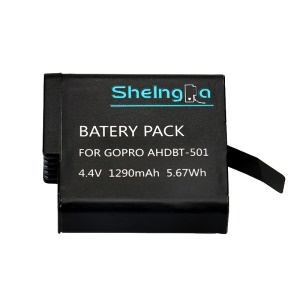 AHDBT-501 4.4V 1290mAh 5.67Wh Battery Pack Replacement for GoPro Hero5