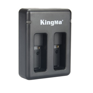 KINGMA Dual Ports Battery Charger with LED Lights for GoPro Hero5 - Black