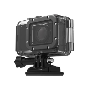 LIKEER HW Series 2 inch LCD Screen 5MP WiFi Action Camera with 4X Zoom 170 Degree Wide Angle Lens - Black
