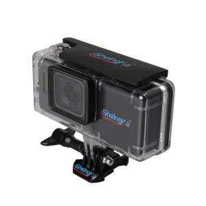 Waterproof Housing Case +2300mAh Side Power Backpack Extended Battery Kit for GoPro Hero 5