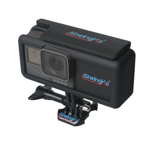 Side Power Supply with Protective Housing Case Cover Set for GoPro Hero6 Black / Hero 5
