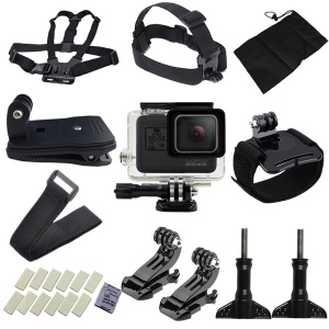 26 in 1 Gopro Accessories Kit with Waterproof Case, Chest Belt, Headstrap for GoPro Hero5 Black / Hero6 Black