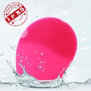 AMOVEE IPX5 Ultrasonic Facial Brush Silicone Facial Cleaner and Massager