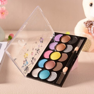 15 Colors Long Lasting Eye Shadow Palette Box Kit with Makeup Brush