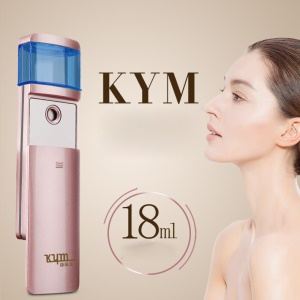 K1246 18ml Nano Ultrasonic Handheld Mist Sprayer Portable Beauty Skin Care Face Humidifier - Rose Gold