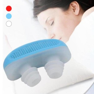 New Anti Stop Snoring Snore Free Silicone Snore Stopper Sleep Device - Blue