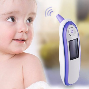 Baby Adult Infrared Digital Thermometer Forehead Ear Thermometer Body Care Diagnostic Tool - Purple