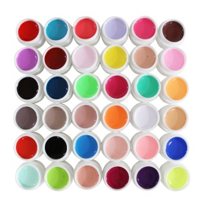36 colores 5ml UV gel falso clavo arte consejos decoración - Gel de color puro UV