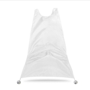 Beard Catcher Apron Beard Cape for Shaving with Two Suction Cups - White
