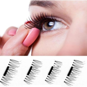 4Pcs/Set Ultra-thin Magnetic Eyelashes Reusable 3D False Magnet Eyelashes - Style C