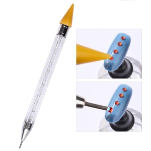 Nail Rhinestone Dotting Pen Double Different Head Tips Beads Picker Wax Pencil Handle Manicure Tool