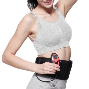 FITTONE EMS Abdomen Muscle Trainer Rechargeable Muscle Toner Stimulator Belt for Weight Loss, Fat Reduction