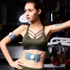 Portable EMS Body Arm Muscle Trainer Muscle Toner Stimulator for Weight Loss, Fat Reduction