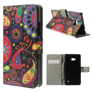 Paisley Flowers Magnetic Leather Stand Case for Microsoft Lumia 640 Dual Sim / 640 LTE