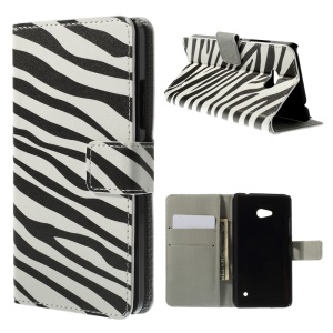 Zebra Stripes Wallet Leather Stand Case Cover for Microsoft Lumia 640 Dual Sim / 640 LTE