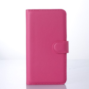 Lychee Skin Wallet Leather Case for Microsoft Lumia 640 Dual SIM / 640 LTE - Rose