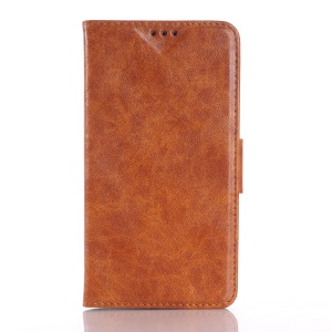 Leather Phone Cover for Microsoft Lumia 640 XL / XL LTE Crazy Horse Skin - Brown