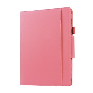 Folio Leather Protective Case for Microsoft Surface 3 with Stand - Pink