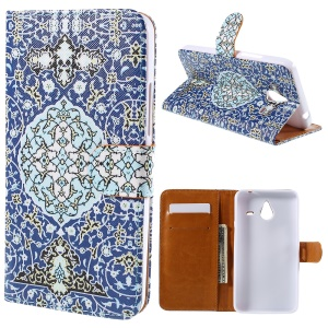 Cross Pattern Magnetic Leather Stand Case for Microsoft Lumia 640 XL / Dual SIM - Stylish Graffiti