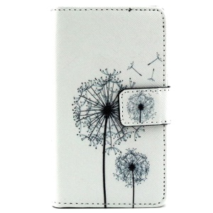 Wallet Leather Phone Case for Microsoft Lumia 435 Dual Sim - Dandelion