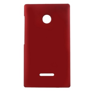 Rubber Coating Hard Cover Case for Microsoft Lumia 435 / Dual Sim - Red