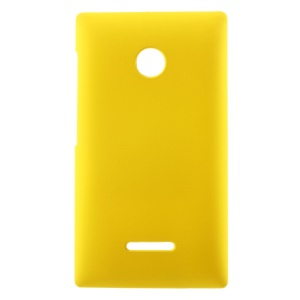 For Microsoft Lumia 435 / Dual Sim Rubberized Hard PC Case - Yellow