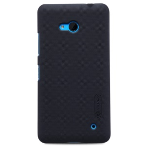 NILLKIN Frosted Shield PC Case for Microsoft Lumia 640 Dual Sim / 640 LTE with Screen Film - Black