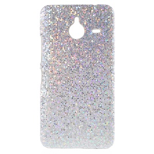 Glittery Sequins Coated Hard Case for Microsoft Lumia 640 XL / XL Dual Sim - Silver