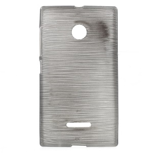 Glossy Outer Brushed Inner TPU Gel Case for Microsoft Lumia 435 / Dual Sim - Grey