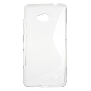 S-line Pattern Flexible TPU Cover for Microsoft Lumia 640 Dual Sim / 640 LTE - Transparent