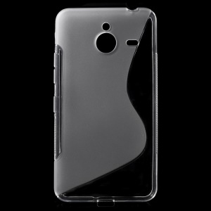 S-curve Line TPU Gel Case for Microsoft Lumia 640 XL / Dual SIM - Transparent
