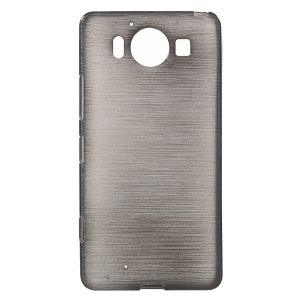 Glossy Outer Brushed Inner TPU Case for Microsoft Lumia 950 - Black