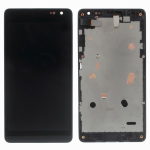 LCD Screen and Digitizer Assembly with Front Housing for Microsoft Lumia 535