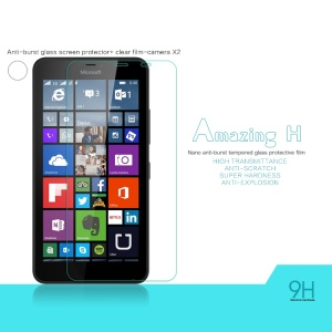 NILLKIN Tempered Glass Screen Film for Microsoft Lumia 640 XL / Dual SIM Amazing H Nanometer Anti-Explosion