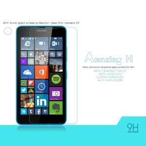 NILLKIN Tempered Glass Screen Film for Microsoft Lumia 640 Dual Sim / 640 LTE Amazing H Nanometer Anti-Explosion