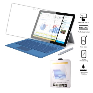 Clear Tempered Glass Screen Protector for Microsoft Surface 3 Arc Edge